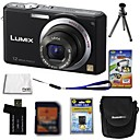 panasonic fotocamera Lumix DMC-FX100 12.4mp digitale batteria + 4GB + SD card + 6 bonus extra
