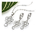 Blossom Cubic Zirconia Necklace and Earring Set - CZ Jewelry Set 80712-08 (SZY123)