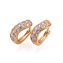 &quot;U&quot; Shape Cubic Zirconia Earring on 18K Gold Plated - CZ Earings SYX-0125 (SZY103)