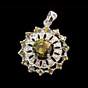 Rosary Cubic Zircon CZ Pendant in 925 Sterling Silver (SZY040) (Start From 36 Units) Free Shipping