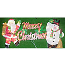 Double Faced Mesh Silhouette Merry Christmas Light (SDQ365)