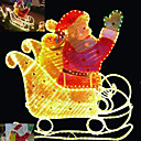 3D Rope Light Sculpture - PS Sheet Santa on Sleigh Light (SDQ392)