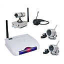 2.4GHZ Four Channel Remote Wireless Receiver with 4x Wireless Camera