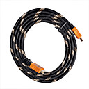 5M HDMI Cable Male to Male 28AWG with Ferrite Core for PS3 DVD HDTV(Z-301)
