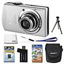 Canon IXUS 870/PowerShot SD880 IS 10MP Digital Camera with 3.0-inch LCD+4GB SD+Battery+6 BonusSZW674
