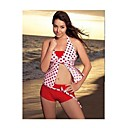 Red Dots Two Piece Set Halter Top with Boyshort Bottom 2863 (LYU042)