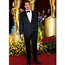 der 81. Oscar Bradley Pitt Zwei-Tasten-Kerbe Revers Smoking / Jacke und Hose (oscm005)