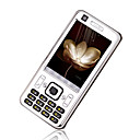 T730  Dual Card Quad Band Touch Screen Analog TV Cell Phone Silver&Black