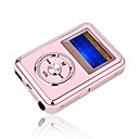 4gb mini mp3 players com alto-falante rosa (szm197)
