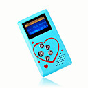 4gb mini mp3 players com alto-falante azul (szm186)