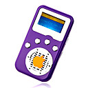 4gb mini mp3 players com alto-falante roxo (szm211)