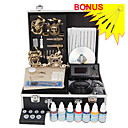 Professional Tattoo Kits  With 4 Skull Tattoo Machine Guns LCD Power