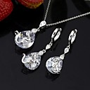 24K Gold Plate Stylish CZ Jewelry Set-Cubic Zirconia Jewelry Set SLX-0046 (SZY1713)