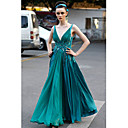 A-line V-neck  Floor-length Chiffon  Dresses on Sale / Evening Dresses (OFGC0111)