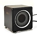 altavoz digital con siete colores fresco luz para iPod/MP3 Player / DVD madera negro (md-11)