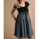 Mixed Fabric Jersey Maternity Dress (09YX017)