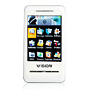 H8 Dual Card Quad Band Ultra -thin Flat Touch Screen PC Camera White