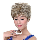 Capless Short Synthetic Light Blonde Curly Hair Wig