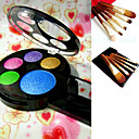 Free Professional Cosmetic Brush Set +  5 Colors Eyeshadow Palette