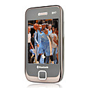 N97 Dual Card Quad Band TV Function Ultra-thin Flat Touch Screen Cell Phone Black(SZRW520)