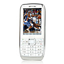 E71 style Dual Card Quad Band Ultra-thin Metal Cover Touch Screen Cell Phone White&Silver