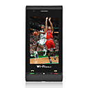 C5000  Quad Band Dual Card TV WiFi Flat Touch Screen Cell Phone Black