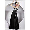 A-line Strapless Floor-length Satin Bridesmaid/ Wedding Party/ Evening Dress (FSD0220)