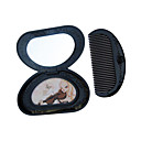 Mini Rose Cosmetic Mirror and Comb 423 - Pea Style