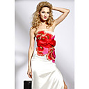 Sheath / Column Strapless Floor-length Elastic Woven Satin Dress On Sale / Evening Dress (OFGC0214)