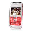 E71 Style Quad Band Dual Card Bluetooth Cell Phone Red (2GB TF Card)(SZSH069)