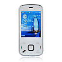 N88 Tri Band Dual Card Dual Mode Dual Standby Dual Bluetooth JAVA Flat Touch Screen CDMA Cell Phone White (2GB TF Card)