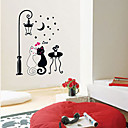 Cat couples Wall Sticker (0565-gz121)