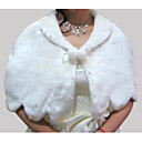 Sleeveless Faux Fur Bridal Wedding Jacket / Wrap (WHPJ0041)
