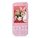 FLY-YING F013 Dual Card Dual Camera Quad Band TV WIFI JAVA Cell Phone Pink (2GB TF Card)
