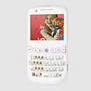 D280 Quad Band Dual Card JAVA Ultra Thin FM TV QWERTY Keypad Cell Phone Pink and White (2GB TF Card and Car Charger)