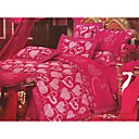 6-pc Luxury Rose Jacquard Cotton Full Size Duvet Cover Set - Free Shipping (0586-FZ007)