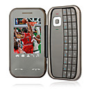 E97 Quad Band QWERTY Keypad Bluetooth Touch Screen Flip FM Music Cell Phone Gray (2GB TF Card and Keypad Leather Case)