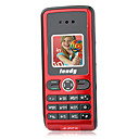 S881 Dual Band Super Mini mobile rouge (carte 2GB TF) (sz05120067)