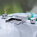 Two Handles Widespread Waterfall Bathroom Sink Faucet or Bathtub Faucet - Free Shipping (0698 -M-6008)