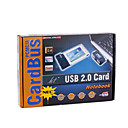 PCMCIA Cardbus to 2-Port USB 2.0 HUB Adapter for Laptop/Notebook