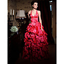 Ball Gown Halter Floor-length Taffeta Prom Dress (FSM0473)