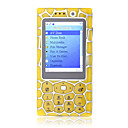 GX2008 Quad Band Bluetooth Dual Camera FM TV Touch Screen Cell Phone Yellow (2GB TF Card)