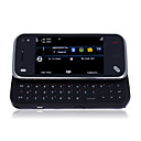 N97 style TV mini Dual Card Dual Camera Quad Band with TV Function Slide Cell Phone Brown and Black (2GB TF Card)