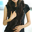 Sleeveless Genuine Rabbit Fur/ Fox Fur Fringed Women's Fur Scarf More Colors (0107AL001-0736)