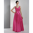 imperium v-hals vloer-length applique chiffon bruidsmeisje / wedding party dress (hsx931)