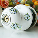 High Quality Ceramic Door Knob with Lock (Porcelain Door Knob) (0768-W20-SST)