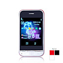 x10 quad-band dual bluetooth fm card appartamento cellulare touch (2GB TF card) (sz00510219)