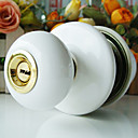High Quality Ceramic Door Knob with Lock (Porcelain Door Knob) (0768-W07-SBT)