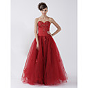 Ball Gown Strapless Floor-length Applique Imported Satin Prom/ Evening Dress (HSX1067)