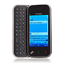 TV97 Quad Band Dual Sim Card Dual Camera TV JAVA Touch Screen QWERTY Keypad Side Slide Cell Phone Black
